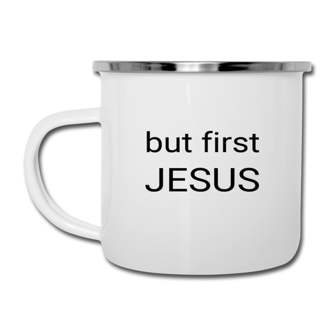 But First Jesus Camper Mug - white