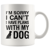 Plans With Dog Coffee Mug