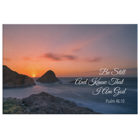 Christian Wall Art - Be Still And Know That I Am God
