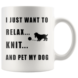 Relax Knit Pet My Dog Coffee Mug