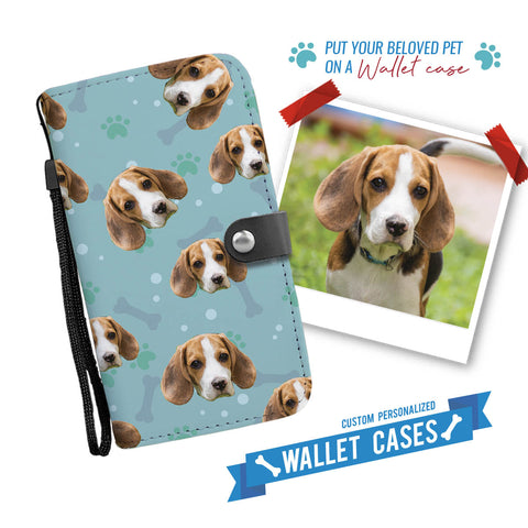 Custom Dog Faces Wallet Phone Case