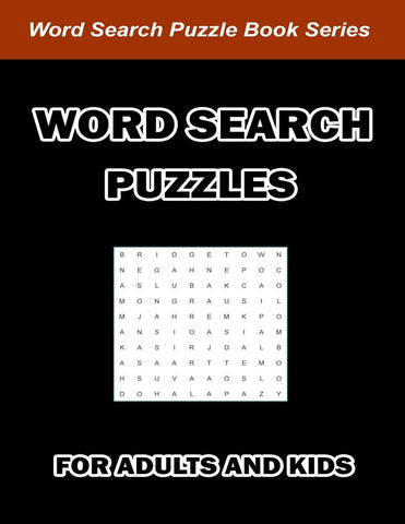 Digital Download 100 Printable Word Search Puzzles