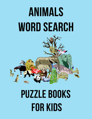 100 Word Search Puzzles For Kids - Digital Download