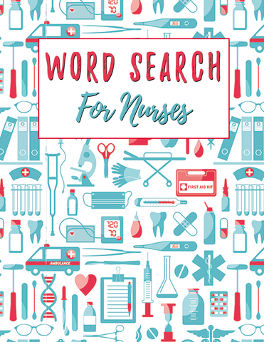 100 Word Search Puzzles For Nurses - Digital Download