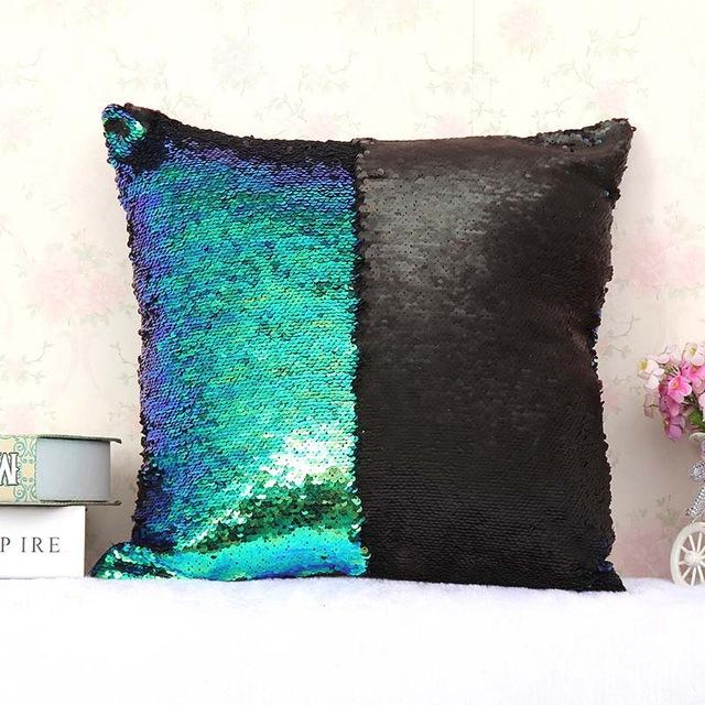 pauline le coussin sequins r versibles taie de 40cm x. Black Bedroom Furniture Sets. Home Design Ideas