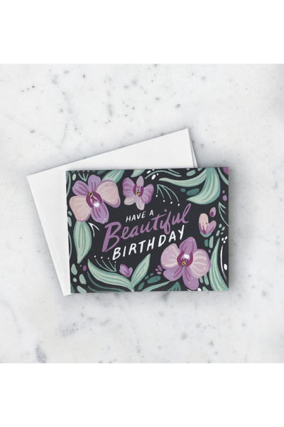 ORCHID BEAUTIFUL BDAY CARD