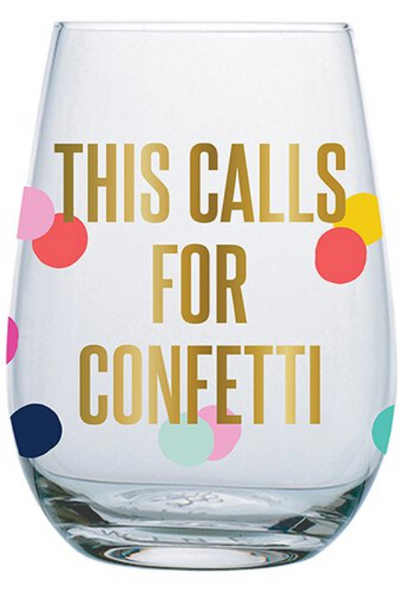 CALLS FOR CONFETTI WINEGLASS