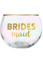 BRIDESMAID ROLY POLY GLASS