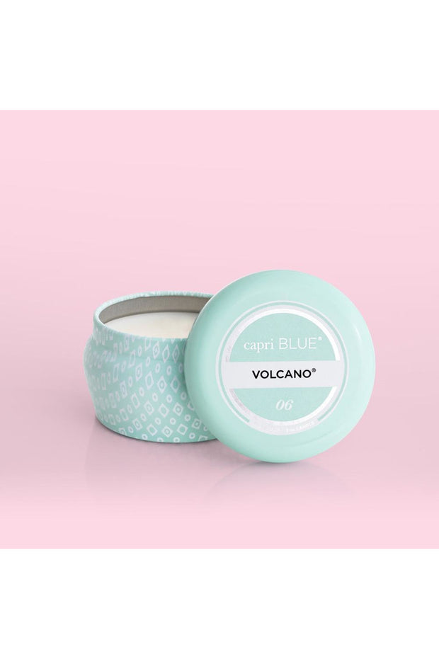 AQUA PRINTED MINI TIN CANDLE