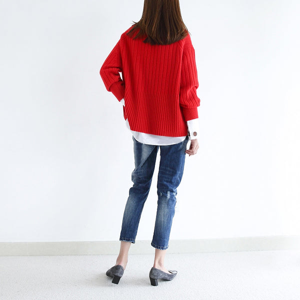 Long sleeve fashion soft Sweater - Holjaz Chic Boutique