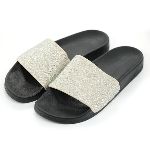 Rhinestone Bling Slides - Holjaz Chic Boutique