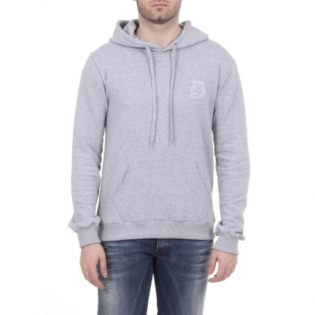 V 1969 ITALIA MENS HOODIE LIGHT GREY - Holjaz Chic Boutique