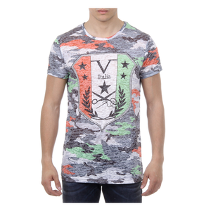V 1969 ITALIA MENS T-SHIRT SHORT SLEEVES ROUND NECK MULTICOLOR OWEN - Holjaz Chic Boutique