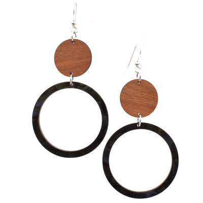 Black Hinged Circle - graceandwoodco