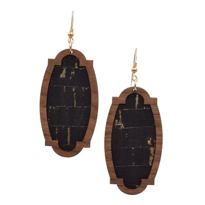 Black with Gold Flecks Wood + Cork Heirloom - Grace and Wood Co.