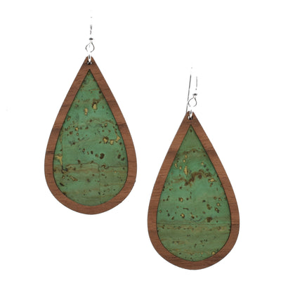 Cactus Green Wood + Cork Teardrop - Grace and Wood Co.