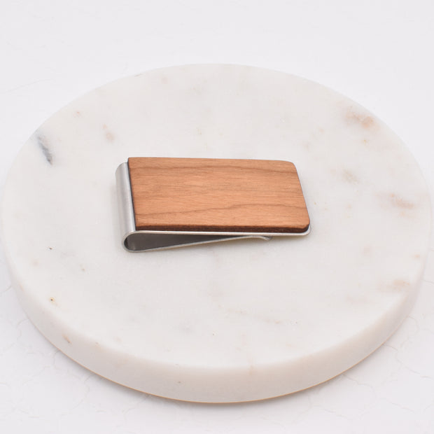 Cherry Wood Money Clip - Grace and Wood Co.