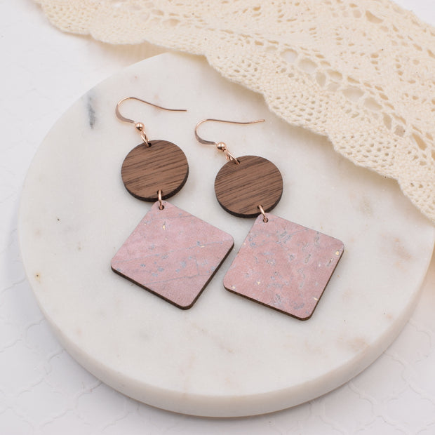 Blush Cork Hinged Diamond