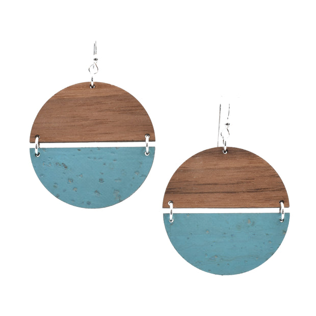 Ocean Blue Hinged Disc - Grace and Wood Co.