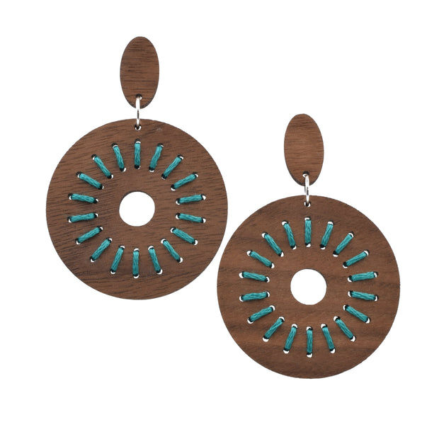 Turquoise Stitched Dunamis - Grace and Wood Co.