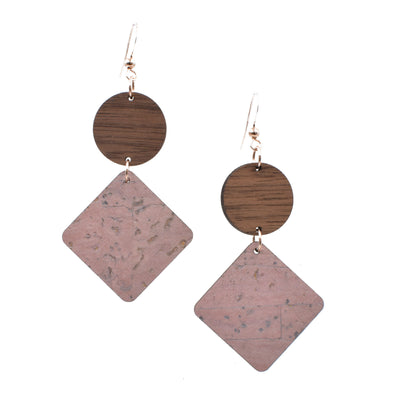 Blush Cork Hinged Diamond - Grace and Wood Co.