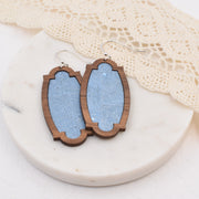 Steel Blue Wood + Cork Heirloom