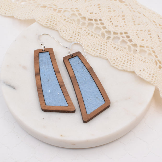 Steel Blue Wood + Cork Flare