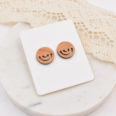 Minimalist Circle Studs - Grace and Wood Co.