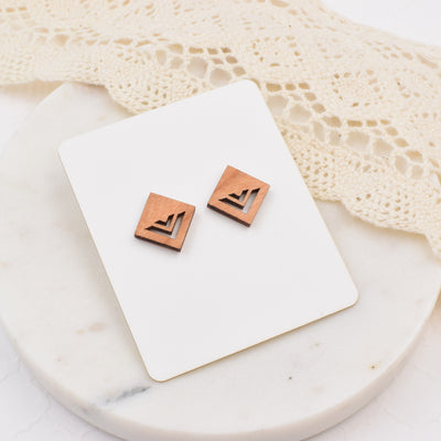 Minimalist Diamond Studs - Grace and Wood Co.