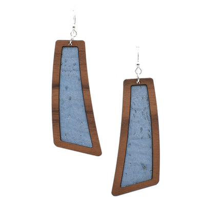 Steel Blue Wood + Cork Flare - Grace and Wood Co.
