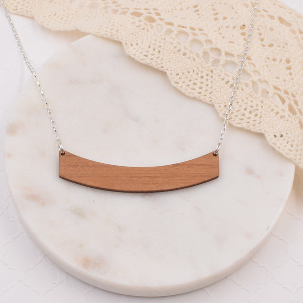 Wood Klema Sterling Silver Necklace - graceandwoodco