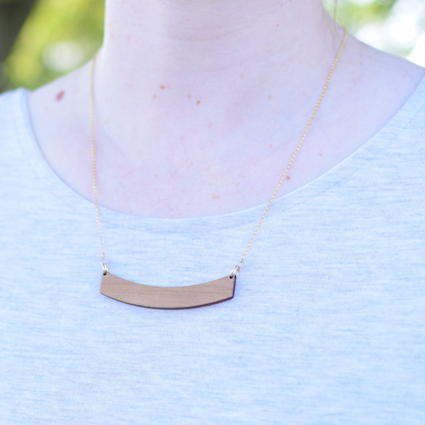 Wood Klema 14k Gold Necklace - graceandwoodco