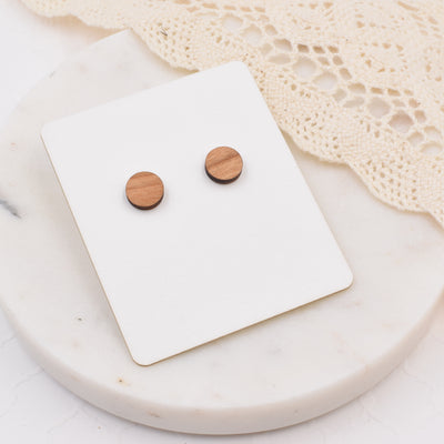 Cherry Circle Studs - Grace and Wood Co.