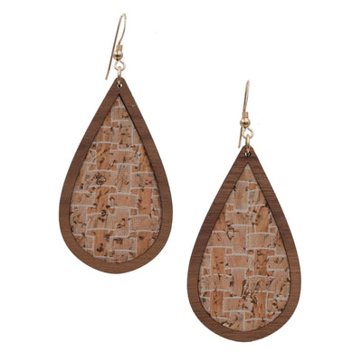 Golden Basket Wood + Cork Teardrop - Grace and Wood Co.