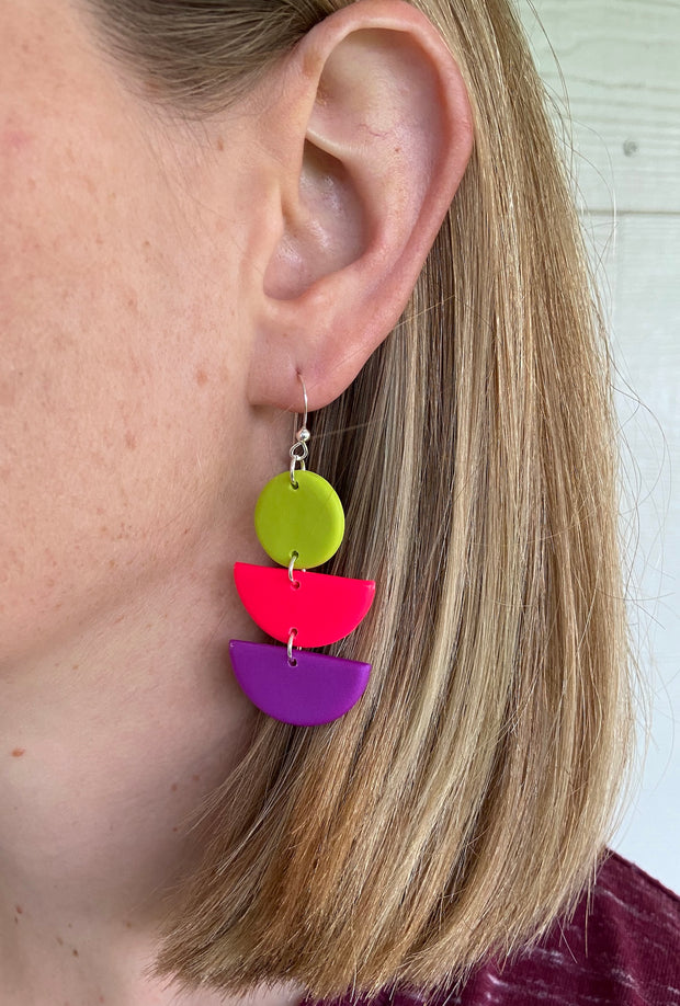 Tutti Frutti Art Deco Hinged Earrings - Grace and Wood Co.