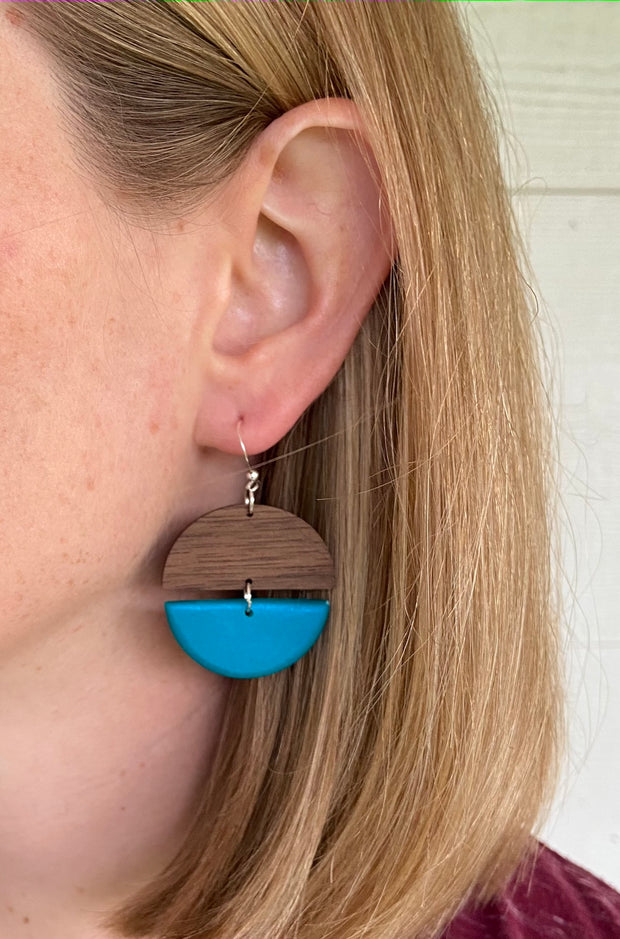 Cerulean Blue Clay Hinged Disc - Grace and Wood Co.