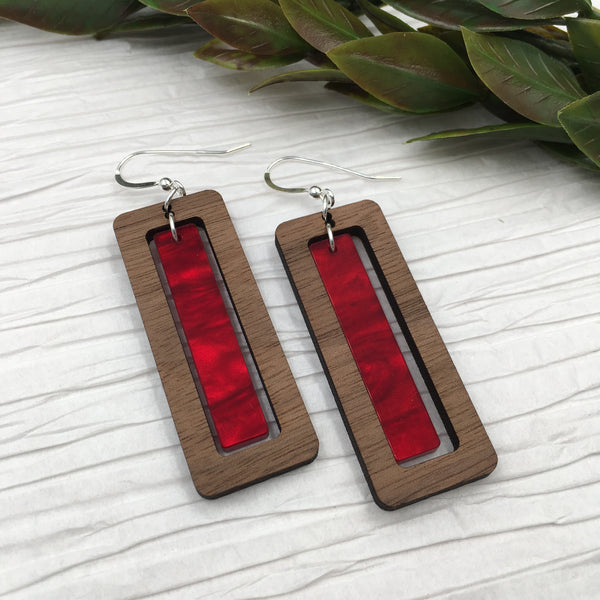 Red Hinged Rectangle - graceandwoodco