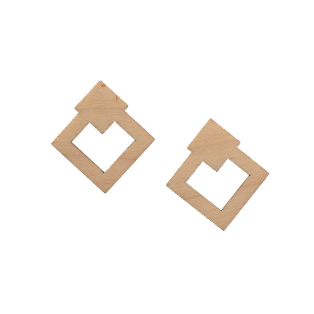 Geometric Diamond Studs
