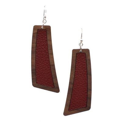 Maroon Wood + Leather Flare - Grace and Wood Co.