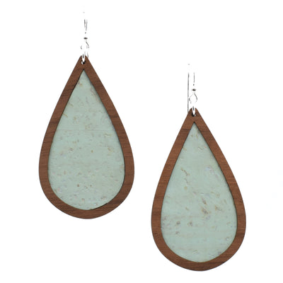 Mint Wood + Cork Teardrop - Grace and Wood Co.