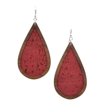 Pomegranate Wood + Cork Teardrop - graceandwoodco