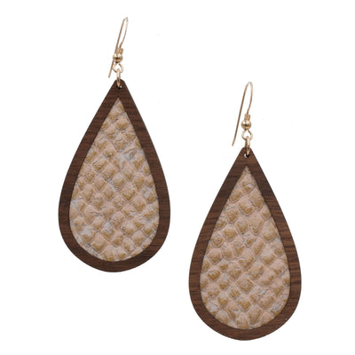 Snakeskin Wood + Cork Teardrop - Grace and Wood Co.