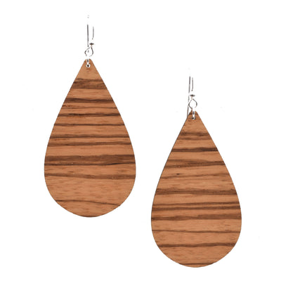 Zebrawood Teardrop - Grace and Wood Co.