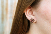 Geometric Triangle Studs