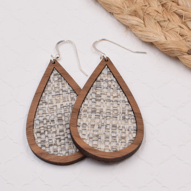 Grey Wood + Fabric Teardrop - graceandwoodco