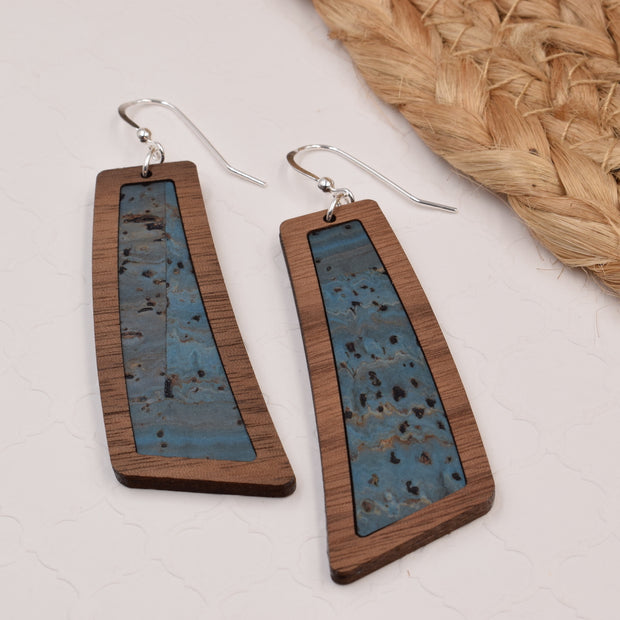 Peacock Blue Wood + Cork Flare - graceandwoodco
