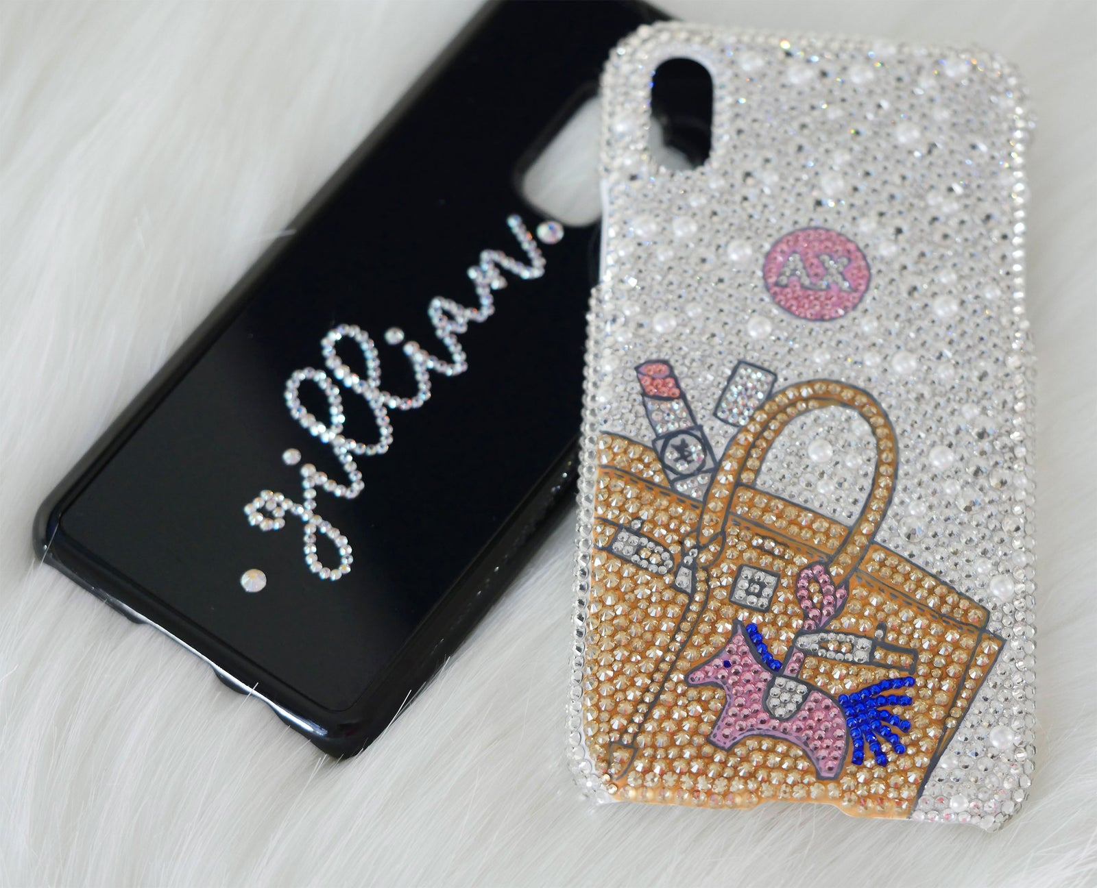 hot sale online d7b64 a4af1 Crystal Iced : Apple iPhone XS Max Swarovski Personalised Crystal Case