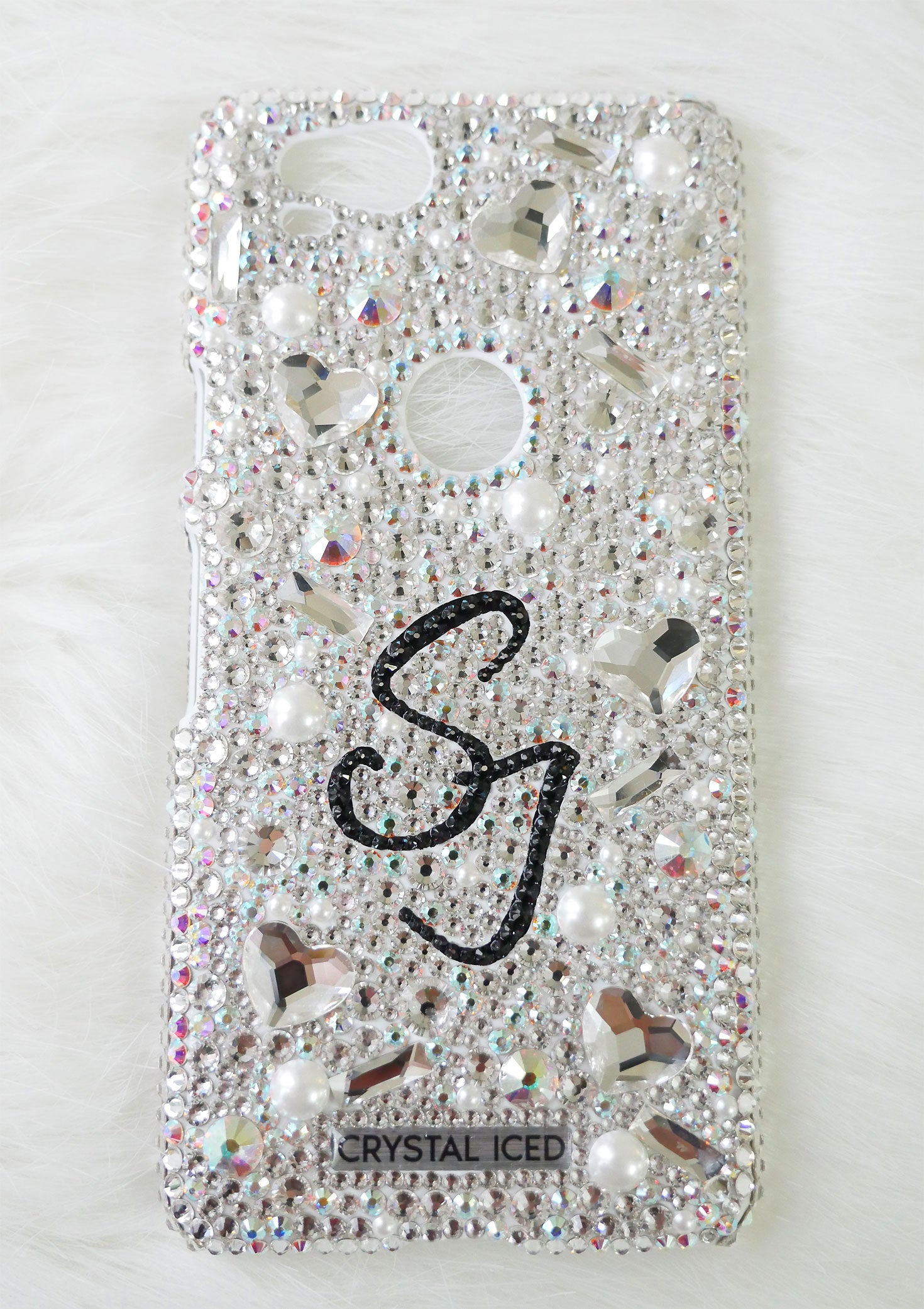 09dd03679 Crystal Iced : Amour with your Name Swarovski Crystals (Design #229)