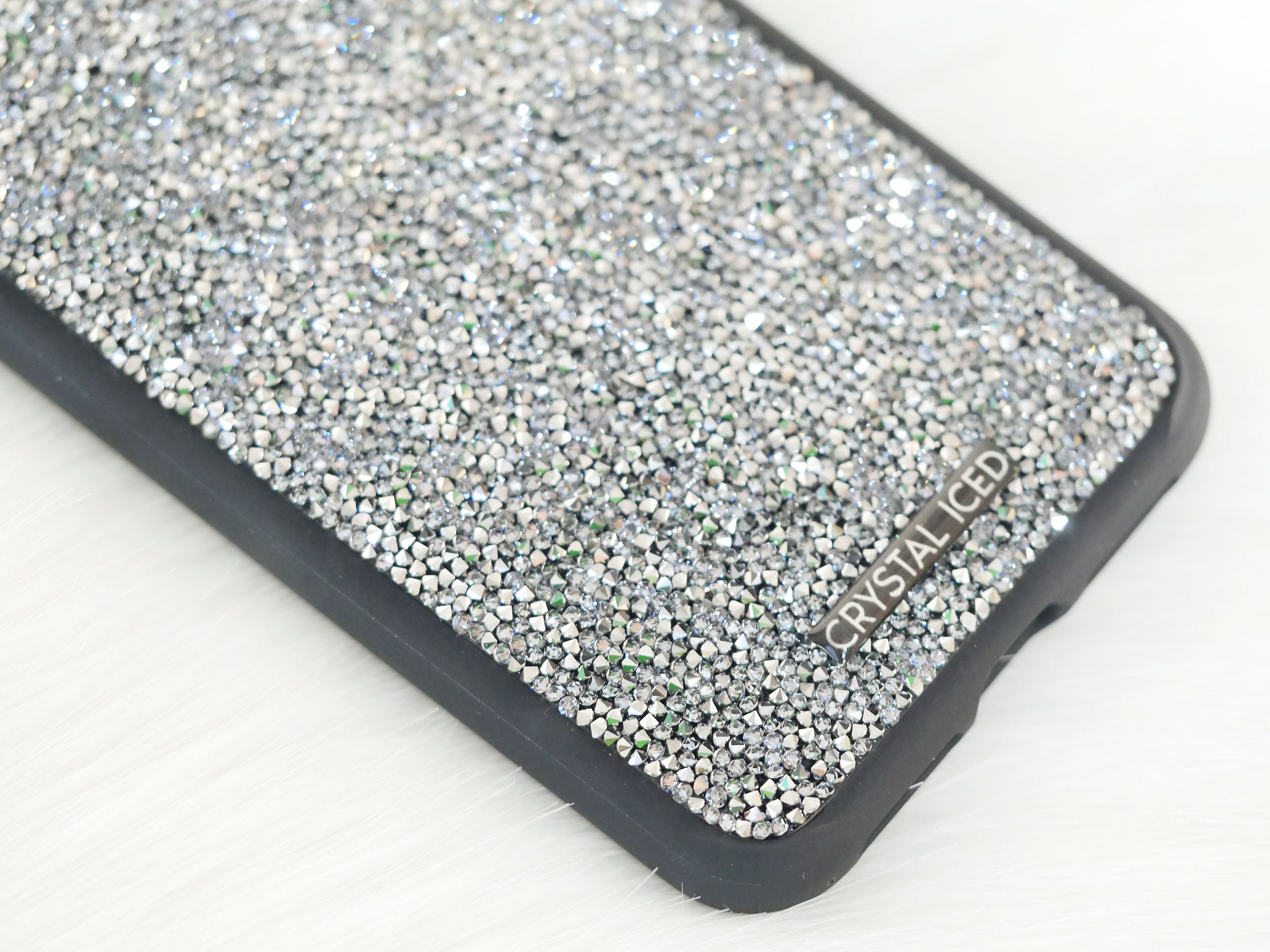 best authentic fa563 aac3f Fine Rocks in Grey Swarovski Crystals for Apple iPhone XS Max (Design #814)