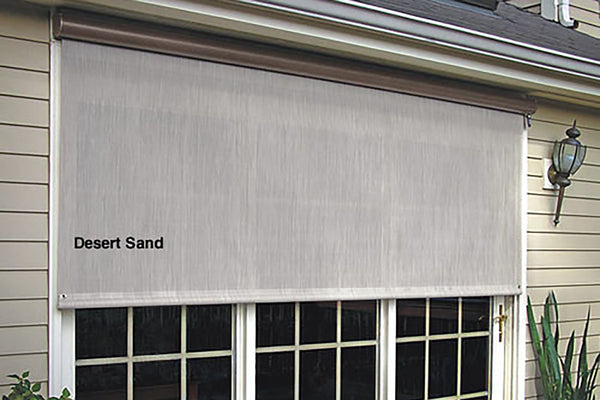 Motorized solar shades buy online save from for Exterior solar shades motorized